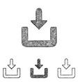 Download icon set - sketch line art vector image vector image