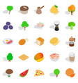 drink coffee icons set isometric style vector image vector image