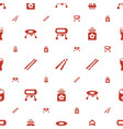 drum icons pattern seamless white background vector image vector image