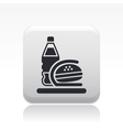 fastfood bag icon vector image vector image