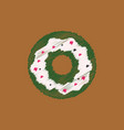 flat icon design collection donut with cream vector image vector image