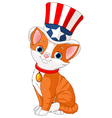 Fourth of July kitten vector image vector image