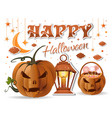 halloween design with halloween basket with sweets vector image vector image