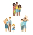 Happy Families Posing Together vector image vector image