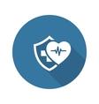 Health Insurance Icon Flat Design vector image vector image