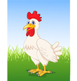 Hen cartoon vector image vector image