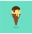 ice cream cone vanilla chocolate flavor vector image
