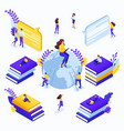 isometric concept for education vector image vector image