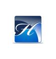 letter h logo design template vector image