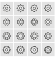 line gear icon set vector image vector image