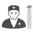 Medic Icon With Bonus vector image vector image