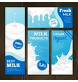 Milk Products Banners Set vector image vector image