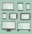 modern gadgets with blank screen vector image