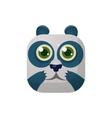 Panda Square Icon vector image vector image