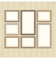 photo frame on vintage wall vector image vector image