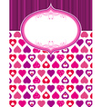 pink valentine background with hearts vector image vector image