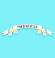 presentation vintage trendy ribbon vector image