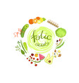 products rich in folic acid infographic vector image vector image