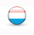 Round icon with national flag of Luxembourg vector image vector image