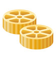 route pasta icon realistic style vector image vector image