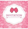 Save the date colorful card vector image vector image
