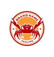 sea crab circle stamp logo design vector image vector image