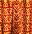 Seamless pattern gold with red curtains abstract vector image vector image