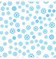 seamless pattern of winter snowflakes vector image vector image