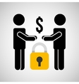 security money men silhouette vector image