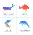 set of abstract emblems and logo design templates vector image