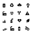 Set of flat icons - ecology and environment vector image vector image