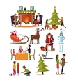 set of New Years characters in flat design vector image vector image