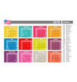 simple calendar 2018 marked with the official vector image vector image