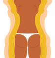 Slim figure woman Weight loss of a girl vector image vector image
