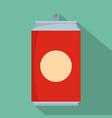 soda icon flat style vector image vector image