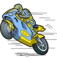 Speeding Motorcycle vector image vector image