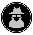 spy black coin vector image