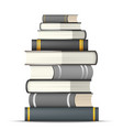 stacks colorful books vector image vector image