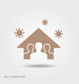 stay at home save lives social distancing vector image vector image