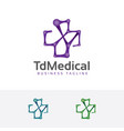 the medical logo vector image vector image