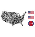 united states map mosaic of mourning ribbon vector image