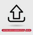 upload icon in modern style for web site and vector image vector image