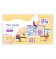 video tutorial online education training e vector image