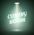 Vintage Style Coming Soon Dark Announscement vector image vector image