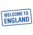 welcome to England blue grunge square stamp vector image vector image