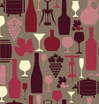 wine seamless vector image