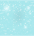 with falling snow background winter snowing sky vector image vector image