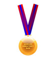 world greatest dad medal on colorful ribbon vector image