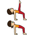 yoga asana set reverse table top vector image vector image