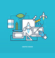 design and creation thinking implement ideas vector image
